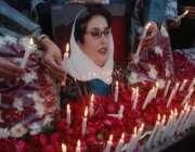 لاہور،پیپلزپارٹی کے کارکنوں نے بے نظیر بھٹو شہید کی یاد میں مال روڈ ..