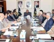 کراچی، صدر آصف زرداری سندھ میں امن و امان کیصورتحال پر اعلی سطحی اجلاس ..