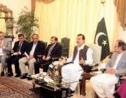 اسلام آباد، متحدہ قومی موومنٹ کا وفد وزیراعظم یوسف رضا گیلانی سے ملاقات ..
