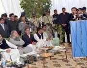 اوکاڑہ، وزیر داخلہ رحمان ملک اپنے اعزاز میں منعقدہ تقریب سے خطاب کر ..
