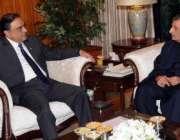 اسلامآباد، وفاقی وزیر ریلوے غلام احمد بلور صدر آصف زرداری سے ملاقات ..