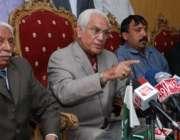 اسلامآباد، آل پاکستان مسلم لیگ کے رہنما احمد رضا قصوری پریس کانفرنس ..