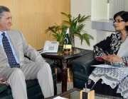 اسلامآباد، امریکی سفیر رچرڈ اولسن نگران وفاقی وزیر انفارمیشن ٹیکنالوجی ..