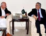 اسلام آباد، وزیراعلی بلوچستان ڈاکٹر عبدالمالک بلوچ وزیر خزانہ سینیٹر ..