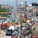 راولپنڈی، مری روڈپر میٹرو بس منصوبے پر کام کی وجہ سے ٹریفک جام کا ..