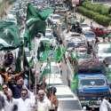 کراچی، حلیم عادل کی قیادت میں مسلم لیگ ق کے ارکان پاک فوج کے حق میں ریلی ..