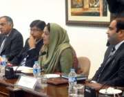 اسلامآباد، وزیر مملکت برائے انفارمیشن ٹیکنالوجی انوشہ رحمان پی ٹی ..