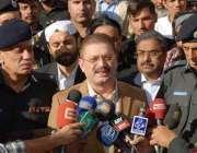 کراچی، وزیر اطلاعات سندھ شرجیل انعام میمن شہید ڈی ایس اپی کی فاتحہ ..