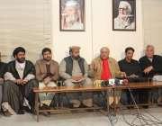 پشاور: اے این پی، سنی اتحاد کونسل اور مجلس وحدت مسلمین کے رہنما 5جنوری ..