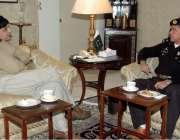 اسلام آباد: وفاقی وزیر داخلہ چوہدری نثار سے انسپکٹر جنرل فرنٹیر خیبرپختونخواہ ..