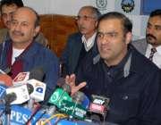 پشاور، وفاقی وزیر مملکت برائے پانی و بجلی عابد شیر علی واپڈا ہائوس ..