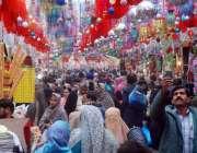 لاہور: جشن عید میلادالنبی صلی اللہ علیہ وآلہ وسلم کی آمد سلسلہ میں سجایا ..