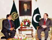 اسلام آباد: وزیر اعظم نواز شریف سے سری لنکا کے وزیر آبپاشی نمل سری پالا ..