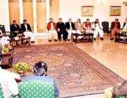 اسلام آباد، وزیراعلی بلوچستان ڈاکٹر عبدالمالک بلوچ کی قیادت میں  ارکان ..