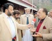 مظفر آباد: وزیر اعظم آزاد کشمیر چوہدری عبد المجید شجر کاری مہم کے موقع ..