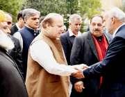 مظفر آباد: آزاد کشمیر اسمبلی کے اسپیکر سردار صادق خان وزیر اعظم نواز ..