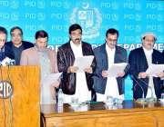 اسلام آباد: وفاقی وزیر اطلاعات و نشریات پرویز رشید چترال پریس کلب کے ..