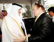 اسلام آباد: وزیر اعظم نواز شریف کا سعودی شہزادہ سلطان بن سلمان استقبال ..