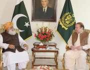 اسلام آباد: وزیر اعظم نواز شریف سے مولانا فضل الرحمن ملاقات کر رہے ہیں۔