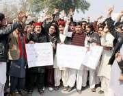 پشاور: پختون ایس ایف ڈسٹرکٹ پشاور کے طلبہ مطالبات کے حق میں احتجاجی ..
