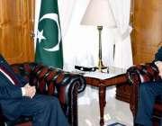 اسلام آباد: مشیر خارجہ سرتاج عزیز سے چین کمیونسٹ پارٹی کے نائب صدر آئی ..