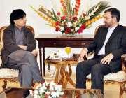 اسلام آباد ، ایرانی سفیر علی رضا وزیر داخلہ چوہدری نثار علی خان سے ملاقات ..