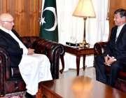 اسلام آباد، میانمار کے سفیر یوسان مائیاینت اوو مشیر خارجہ سرتاج عزیز ..