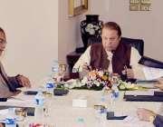 اسلام آباد: وزیر اعظم نواز شریف وزارت منصوبہ بندی اور ترقی کے اعلیٰ ..