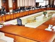 اسلام آباد: وفاقی وزیر خزانہ اسحاق ڈار خزانہ ای سی سی کے اجلاس کی صدارت ..