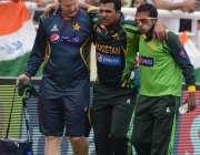 میر پور ، بنگلہ دیش میںجاری ایشیا کپ کے اہم میچ میں پاکستانی کھلاڑی ..