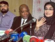 لاہور ، عافیہ موومنٹ کی رہنما ڈاکٹر فوزیہ صدیقی پریس کانفرنس سےخطاب ..