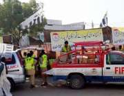 مٹھی ، جماعت الدعوہ کے کارکن تھر پارکر قحط زدگان کیلئے امدادی سامان ..