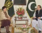 اسلام آباد، ڈی جی ورلڈہیلتھ آرگنائزیشن ڈاکٹر مارگریٹ چن وزیراعظم ..