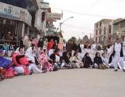 کوئٹہ: آل بلوچستان نرسز فیڈریشن کے زیر اہتمام فورسز نے اپنے مطالبات ..