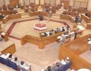 کوئٹہ ، بلوچستان اسمبلی کے اجلاس کا ایک منظر۔