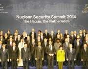 ہیگ ، جوہری سلامتی کانفرنس کے اختتام کے موقع پر عالمی رہنمائوں کا ..