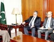 اسلام آباد، روس کے سفیر الیکسی ڈیڈوو مشیر خارجہ سرتاج عزیز سے ملاقات ..