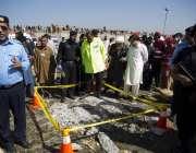 اسلام آباد: فروٹ منڈی میں دھماکہ کی جگہ کو سیل کرکے شواہد اکھٹے کئے ..