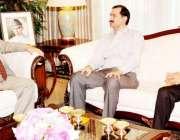 اسلامآباد، سابق سکوائش چیمپئن جان شیر خان ایوان صدر میں صدر مملکت ..