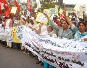 لاہور: بھٹہ مزدوروں کے حقوق کیلئے کام کرنے والی تنظیمیں اپنے مطالبات ..