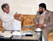 پشاور ، ڈی جی نیب شہزاد سلیم وزیراعلی خیبرپختونخوا پرویز خٹک سے ملاقات ..
