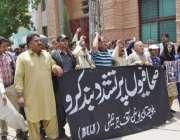 کوئٹہ، آزادی صحافت کے عالمی دن کے موقع پر صحابی پریس کلب کے سامنے احتجاجی ..