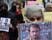 کوئٹہ ، زاہد بلوچ بازیابی کمیٹی کے زیر اہتمام جلوس میں ایک خاتون نے ..