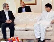اسلامآباد، ایرانی وزیر داخلہ عبدالرضا رحمانی فاضلی پنجاب ہائوس میں ..