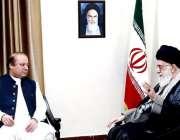 تہران، وزیراعظم نواز شریف ایرانی سپریم لیڈر آیت اللہ خمینی سے ملاقات ..