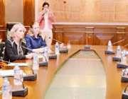 راولپنڈی ، مارتھا روبی کی قیادت میں امریکی کانگریس وفد وزارت دفاع میں ..