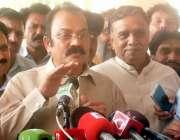 لاہور، پنجاب اسمبلی کے اجلاس کے موقع پر صوبائی وزیر قانون رانا ثنا ..