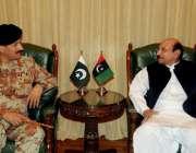 کراچی، ڈی جی رینجرز میجر جنرل رضوان اختر وزیراعلی سندھ قائم علی شاہ ..
