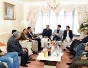 لندن، مسلم لیگ ق کے صدر چوہدری شجاعت حسین ، چوہدری پرویز الہی پاکستان ..