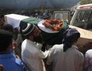 کراچی، جناح ائیرپورٹ پر دہشتگردوں کے حملہ میں مقابلہ میں شہید ہونے ..